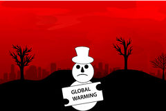 Illustration global warming. Illustration depicting the dangers of global warming makes the earth getting hotter Royalty Free Stock Image