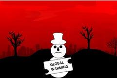 Illustration global warming Royalty Free Stock Image
