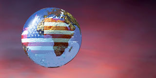 Illustration of a globe Royalty Free Stock Images