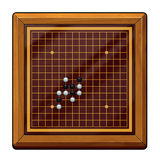 Illustration: Go Game, Gomoku Chess, Renju Chess Related: Chess Pieces, Chess Board, etc. Stock Images