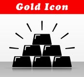 Gold bars vector icon design. Illustration of gold bars vector icon design Royalty Free Stock Images