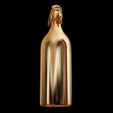 Illustration of a gold bottle. High resolution 3d Royalty Free Stock Photo