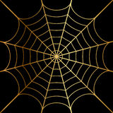 Illustration of gold cobweb Royalty Free Stock Photography