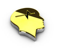Illustration of gold Copyright symbol on white background Royalty Free Stock Photography