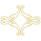 Illustration gold embroidery Royalty Free Stock Photo