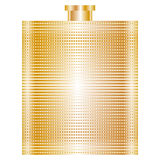 Illustration of gold flask Royalty Free Stock Image