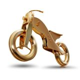 Illustration of a gold motorcycle. High resolution 3d Stock Photo