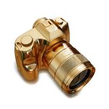 Illustration of a gold photo camera. High resolution 3d Royalty Free Stock Image