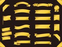 Gold ribbon1. It is an illustration of an Gold ribbon set stock illustration