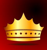 Illustration the gold royal crown Stock Photo