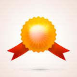 Illustration of gold shiny medal Stock Photography