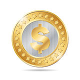 illustration of a gold and silver coin Stock Image