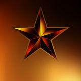 Illustration of a Gold star on gold. EPS 8 Stock Images