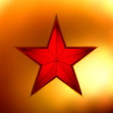 Illustration of a Gold star on red. EPS 8 Royalty Free Stock Image