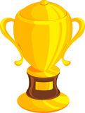 Illustration Gold trophy. On white background.rn Stock Image