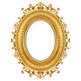 Illustration of gold vintage frame Stock Photo