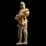 Illustration of a Golden armor. High resolution 3d Stock Photography