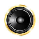 Illustration of golden audio speaker Stock Photos