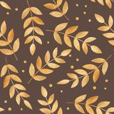 Illustration of golden autumn leaves Royalty Free Stock Image
