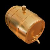 Illustration golden barrel. High resolution 3d Royalty Free Stock Photography