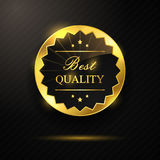 Golden best quality badge Royalty Free Stock Photo