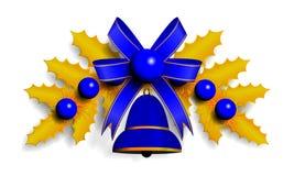 Illustration of golden Christmas garland Stock Photo