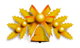 Illustration of golden Christmas garland Royalty Free Stock Images