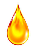 Illustration of a golden drop of oil. Royalty Free Stock Photos