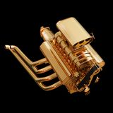 Illustration of a golden engine. High resolution 3d Royalty Free Stock Photography