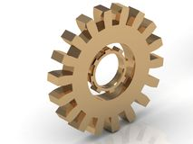 Illustration of golden gear inside the other Stock Images