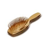 Illustration of a Golden Hairbrush. High resolution 3d Royalty Free Stock Photo