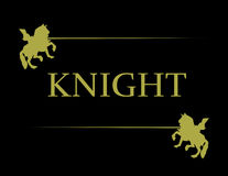 Illustration of golden knight Royalty Free Stock Images