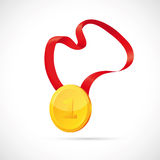 Gold medal cartoon Royalty Free Stock Images
