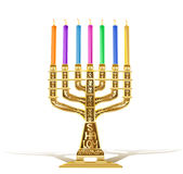 Illustration of golden menorah Stock Image