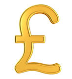 Illustration of golden pound Royalty Free Stock Photo