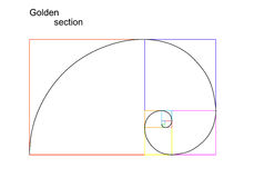 Illustration of golden section (ratio, proportion). Isolated on white background, vector, eps8 stock illustration