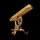 Illustration golden telescope solated. High resolution 3d Royalty Free Stock Photo