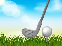 Golf background illustration vector illustration