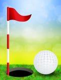 Illustration of golf Stock Photo