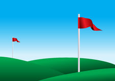 Illustration of a golf flags Stock Photos
