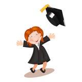 Illustration of graduate  student Stock Photos