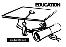 Illustration of graduation cap Royalty Free Stock Images