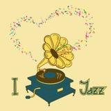 Illustration of gramophone Royalty Free Stock Image