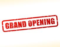 Grand opening text buffered. Illustration of grand opening text buffered on white background Royalty Free Stock Photography