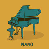 Illustration with grand piano Royalty Free Stock Images