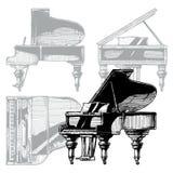 Illustration of Grand Piano Royalty Free Stock Photo