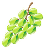 Illustration of grapes fruit icon clipart Royalty Free Stock Photography