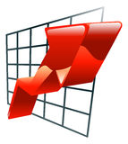 Illustration of graph icon clipart Royalty Free Stock Photography
