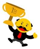 Illustration  graphic cartoon character of businessman Stock Image