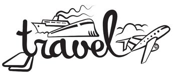 Travel and cruise logo Stock Images